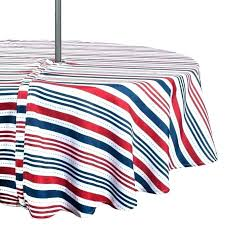 patio table cloth modern stripe outdoor tablecloths with umbrella hole and zipper tablecloth elastic for tables