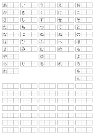 Japanese Hiragana And Katakana Chart Nihongo O Narau Learn Japanese
