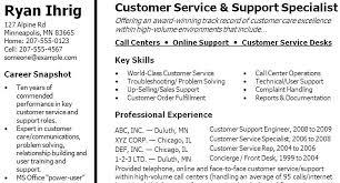 Resume Skills Examples For Customer Service Customer Service Resume
