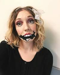 simple creepy doll makeup