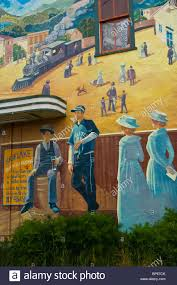 painted wall mural showing victorian era life in the early 1900 s blue lake humboldt county california on victorian era wall art with painted wall mural showing victorian era life in the early 1900 s
