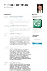 Senior Instructional Designer Resume Samples VisualCV Resume