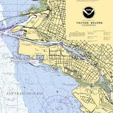 California Nautical Charts California Alameda Oakland Nautical Chart Decor