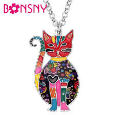 <b>Bonsny Statement Enamel Alloy</b> Running Horse Necklace Pendant ...