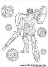 Disegni Per Dipingere E Colori Di Power Rangers