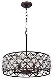 happy 18 5 round crystal chandelier antique bronze