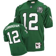 Stitched 12 Sale Free Mitchell Throwback Green amp;ness Eagles Jersey With Nfl Shipping Cheapest Randall Cunningham