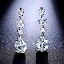 chandelier teardrop earrings cz dangle earrings