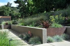 landscaping with cinder blocks superb cinder block retaining wall decorating ideas images in landscape modern design