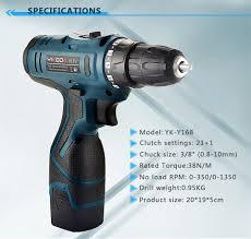 YIKODA 16.8V Thuật Điện Lithium Pin Máy Khoan Không Dây Sạc Parafusadeira  Furadeira Hộ Gia Đình Tự Làm Dụng Cụ Điện|cordless screwdriver|electric  screwdriverpower tools - Gooum