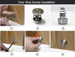 hidden door stop floor mounted 304