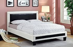 modern low bed frame. Beautiful Frame Furniture Of America Lexie 2Tone Modern Low Profile Leatherette Bed  California King To Bed Frame O