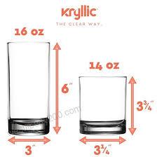 plastic tumbler cups drinking glasses acrylic highball tumblers set of 8 4x16oz 4x14oz