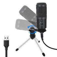 Satın Al USB Mikrofon PC Kondenser Mikrofon Vokalleri Kayıt Stüdyosu  Mikrofon YouTube Video Skype Sohbet Oyunu Podcast PS4 Destekler Game,  TL291.86
