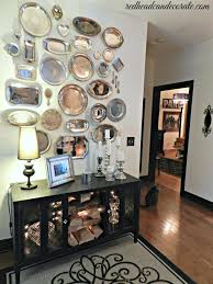 Decorating With Silver Trays Redheadcandecorate's Home Tour Silver platters Wall ideas 29