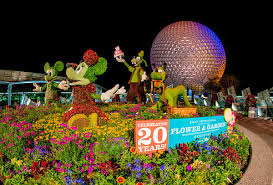 disney flower and garden. Flower-garden-20-years-front-display-epcot-disney- Disney Flower And Garden