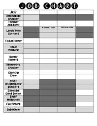 Job Chart Sign Up For 4 Classes
