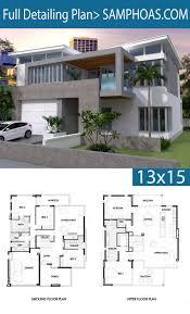 Facades De Maison Design 4 Bedrooms House Plan 13x15m Plan Architecture Maison