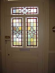 stained glass window above front door ideas