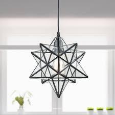 Moravian Star Light Outdoor Modern Clear Glass Moravian Star Pendant Light 12