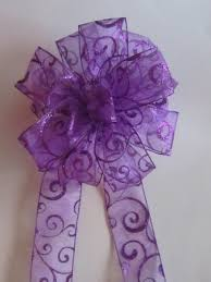 Purple Christmas Bow For Wreath Or Tree By WreathsGaloreStore Purple Christmas Tree Bows