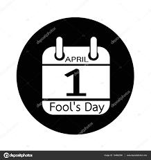 4 月のカレンダー日アイコン イラスト デザインを愚か者 ストック