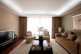 dropped ceiling lighting. Drop Ceiling Lighting Living Room Contemporary With Drapes Neutral Orchid Plasma. Image By: Robert Petril Dropped H