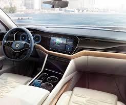 2018 volkswagen touareg interior. simple interior 2018 vw touareg cabin interior of future suv with digital dashboard for volkswagen touareg