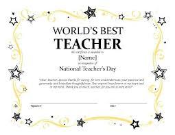 Teacher Printable Best Ever Certificate Sen Certificates