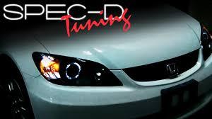 2005 Honda Civic Light Bulb Specdtuning Installation Video 2004 2005 Honda Civic Head Lights Projector Head Lights