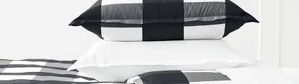 black white bedding