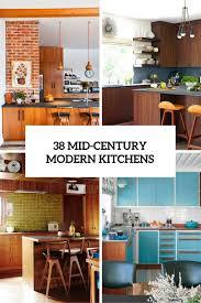 modern interior kitchen design. 38 Mid Century Modern Kitchen Designs Cover Interior Design