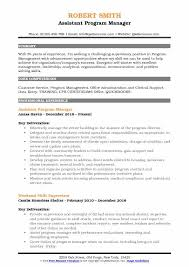 Program Manager Resume Examples Assistant Program Manager Resume Samples Qwikresume