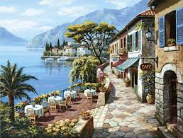 overlook cafe ii painting sung kim overlook cafe ii art painting