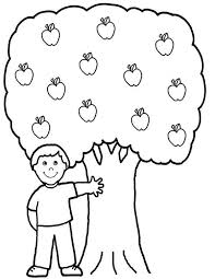 Small Picture A Boy and His Apple Tree Colouring Page Happy Colouring