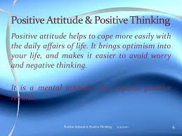 positive attitude ppt positive