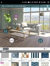 designing homes games white gray wall and sofa design game room