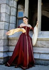traditional irish celtic wedding dresses red model