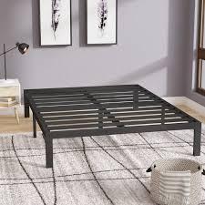 platform bed frame. Branson Black Metal Platform Bed Frame D