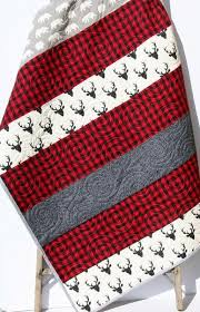 Best 25+ Boy quilts ideas on Pinterest | Baby quilts for boys ... & Buffalo Plaid Quilt, Woodland Lumberjack Plaid Check, Deer Buck Bear Boy or  Girl Blanket Adamdwight.com