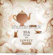 Menu Template Tea Time Design Stock Vector Royalty Free