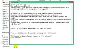 How To Resume A Download In Utorrent After Re Installing Win 100