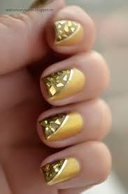 gold foil nail design | Nail Art | Pinterest | Foil nail designs ...