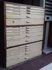 vine hamilton 3 section 15 drawer printers type wood cabinet good