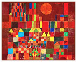 Details About Modern Artist Cubist Klee Castle Sun Counted Cross Stitch Chart Pattern