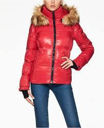 S13 Coat Size Chart Kylie Faux Fur Trim Down Puffer Coat