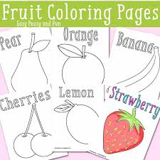 Fruits And Vegetables Coloring Pages Pdf