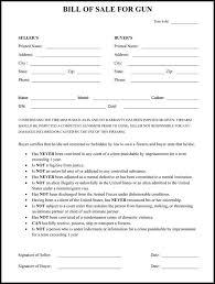 Free Forms Bill Of Sale Firearm Bill Of Sale Form Free Download