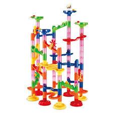 nicee marble run set 105 pcs marble runs toy set marble game stem learning