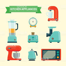 Kitchen Appliances On Credit Kitchen Appliances Set Vector Flat Illustration Stock Vector Art